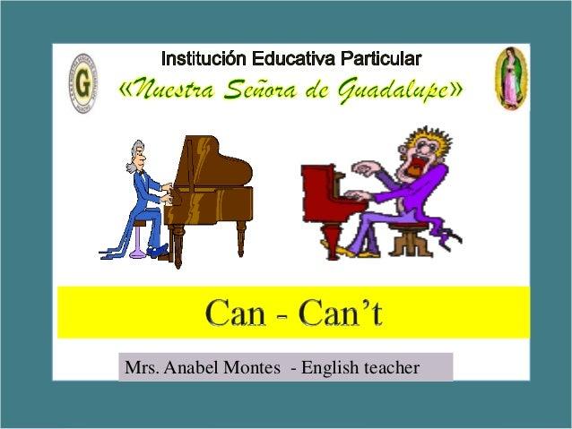 5 Exercises  Mrs. Anabel Montes - English teacher