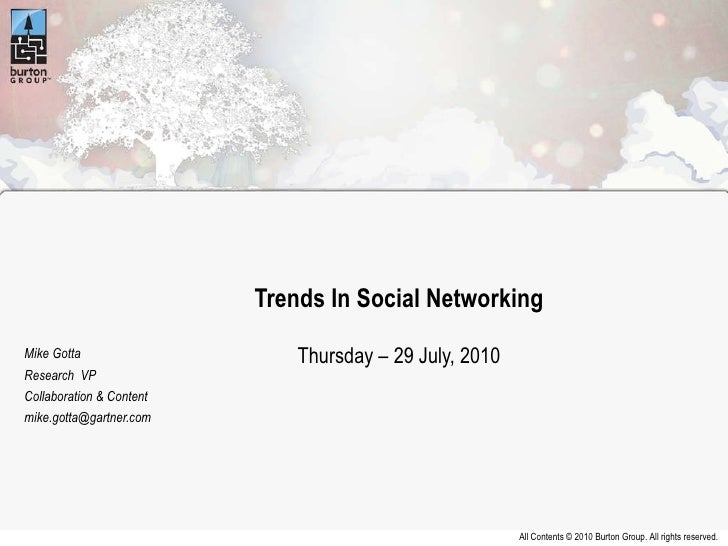 2010 Catalyst Conference - Trends in Social Network Analysis