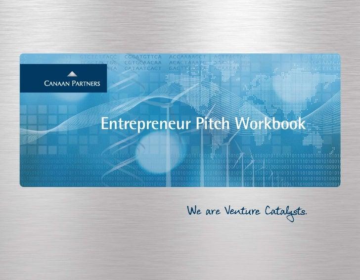 Canaan Entrepreneur Pitch Workbook