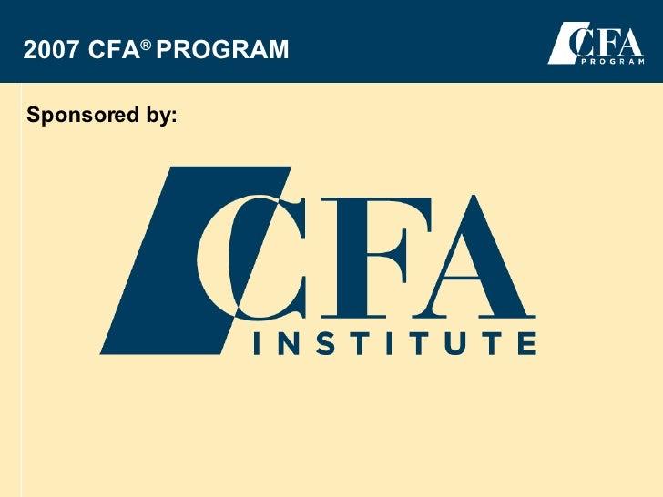 Canada CFA Information Kit