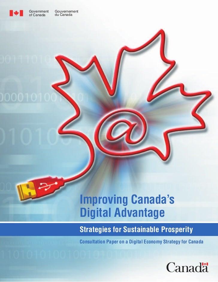 Government   Gouvernementof Canada    du Canada                            Improving Canada's                            D...
