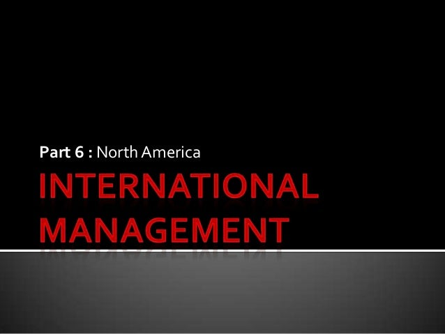Canada   international management