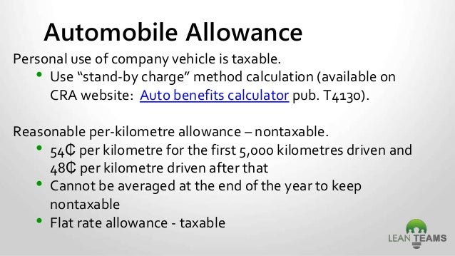 taxable benefits automobile taxable benefits calculator