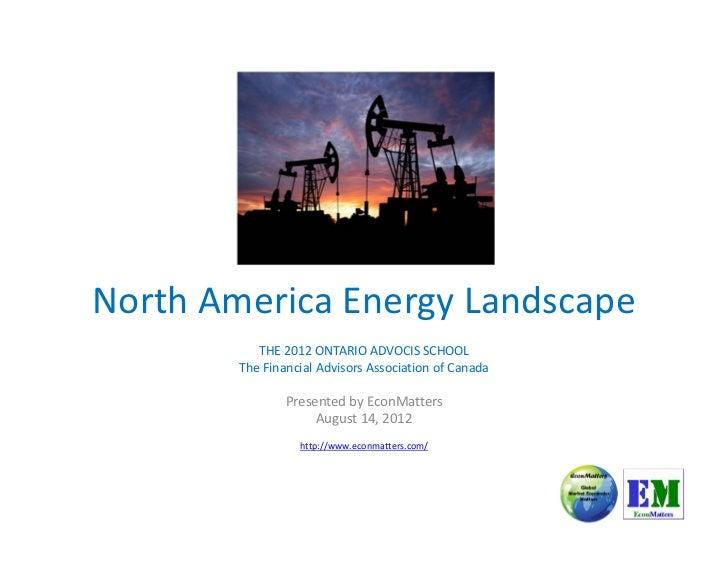 North America Energy Landscape