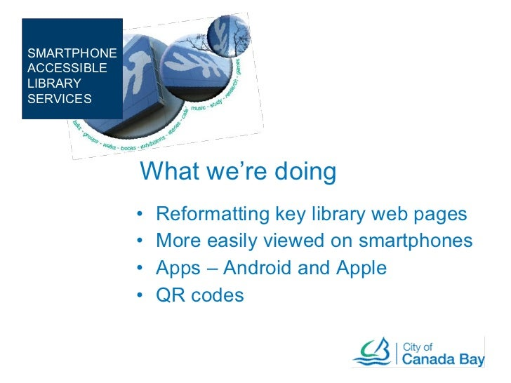 Canada bay Library - Mobile app