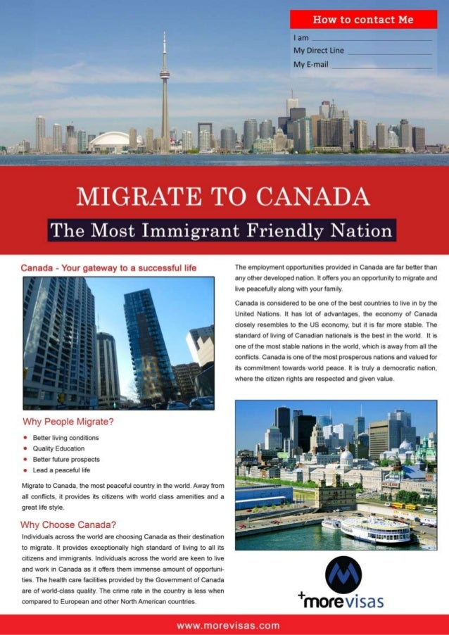 Migrate to Canada by MoreVisas - The Most Immigrant Friendly Nation