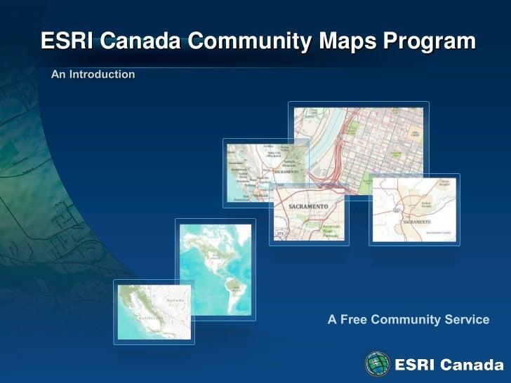 ESRI Canada Community Maps Program