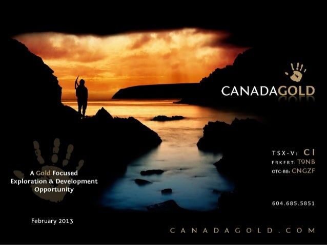 Canada Gold February 2013 Shareholder Presentation