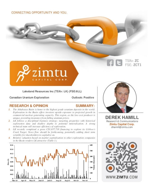 Report: Canadain Uranium Exploration in the Athabasca Basin (Derek Hamill of Zimtu Capital Corp.)