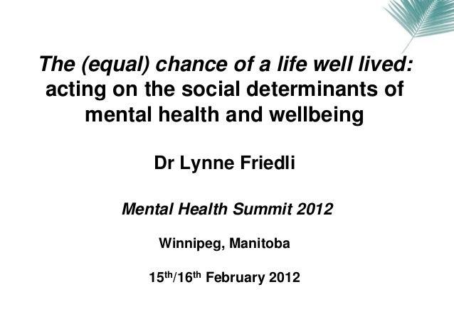 Talk at Canadian Mental Health Summit