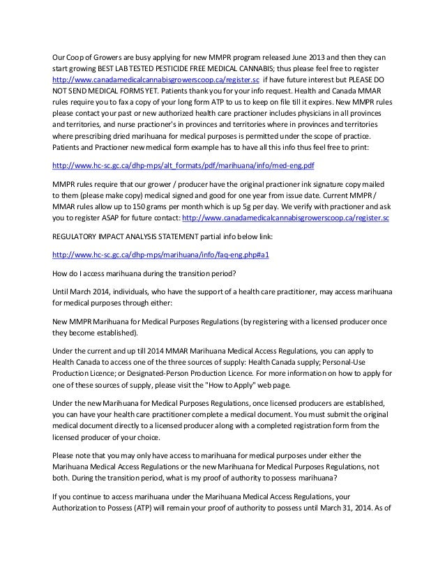 Canada medicalcannabisgrowerscoop.ca patient info package pdf