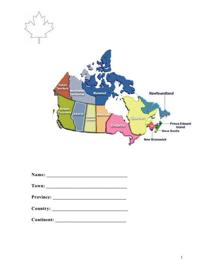 Canada Student Booklet