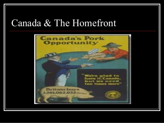 Canada & The Homefront