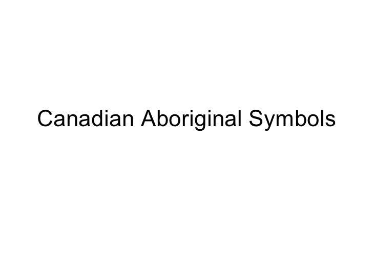 Canadian Aboriginal Symbols