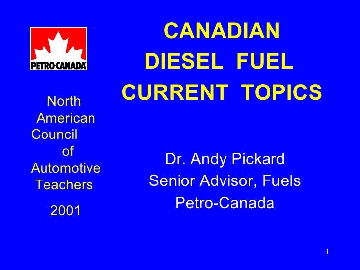 Canadian diesel fuel