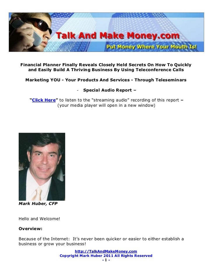 Financial Planner Finally Reveals Closely Held Secrets On How To Quickly   and Easily Build A Thriving Business By Using T...