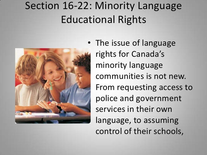 Language Rights in Canada Canada's Minority Language