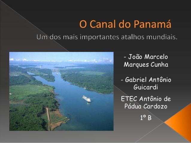 - João Marcelo Marques Cunha - Gabriel Antônio Guicardi ETEC Antônio de Pádua Cardozo 1º B