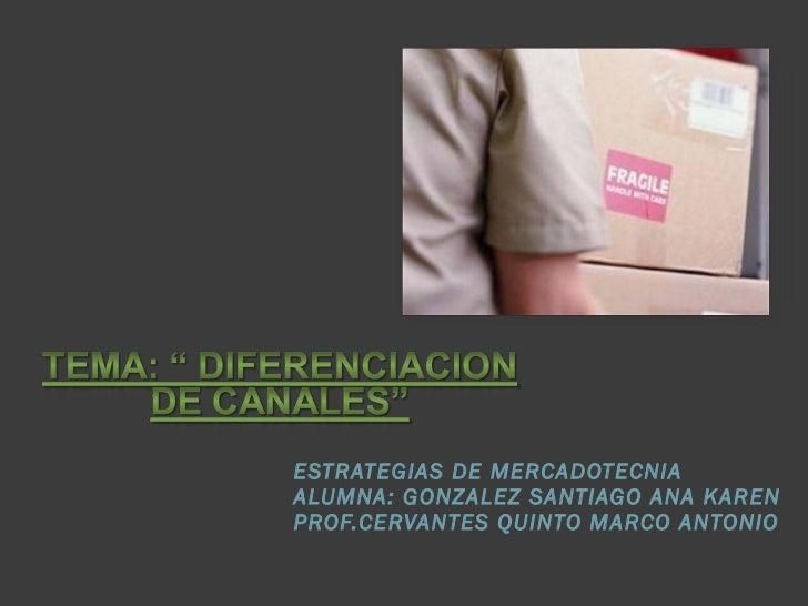 ESTRATEGIAS DE MERCADOTECNIA  ALUMNA: GONZALEZ SANTIAGO ANA KAREN PROF.CERVANTES QUINTO MARCO ANTONIO