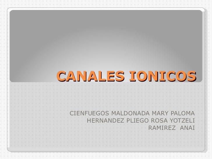 CANALES IONICOS CIENFUEGOS MALDONADA MARY PALOMA HERNANDEZ PLIEGO ROSA YOTZELI RAMIREZ  ANAI