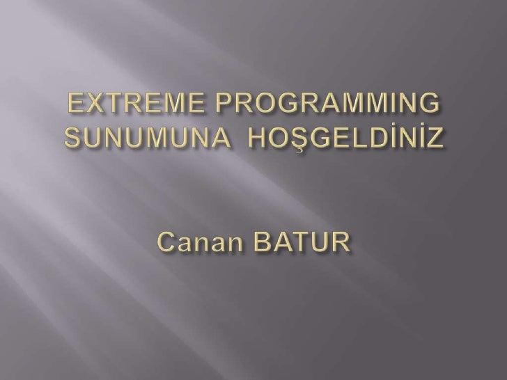 Canan Batur   Extreme Programming