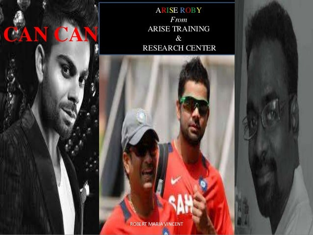 CAN CAN  ARISE ROBY From ARISE TRAINING & RESEARCH CENTER  ROBERT MARIA VINCENT