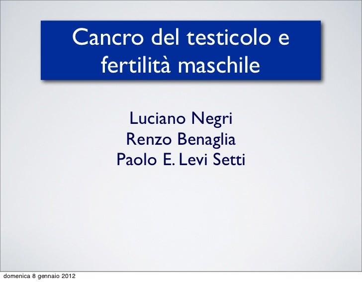 Cancro del testicolo e                       fertilità maschile                           Luciano Negri                   ...