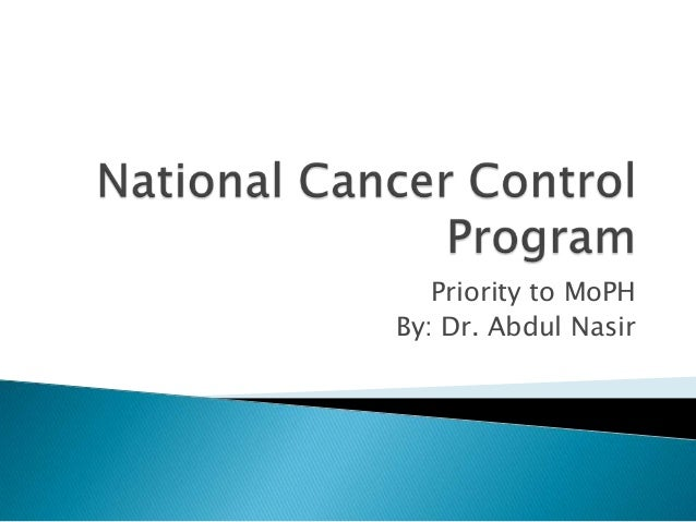 Priority to MoPHBy: Dr. Abdul Nasir