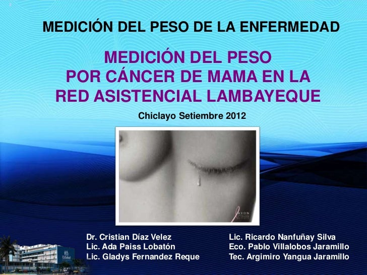 3    MEDICIÓN DEL PESO DE LA ENFERMEDAD          MEDICIÓN DEL PESO      POR CÁNCER DE MAMA EN LA     RED ASISTENCIAL LAMBA...