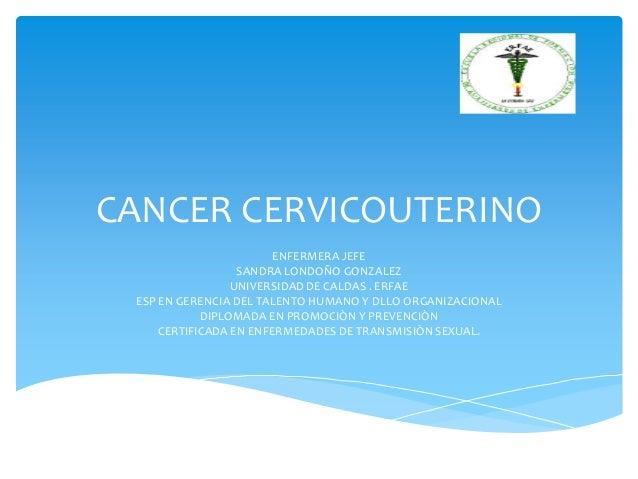 Cancer cervicouterino conferencia