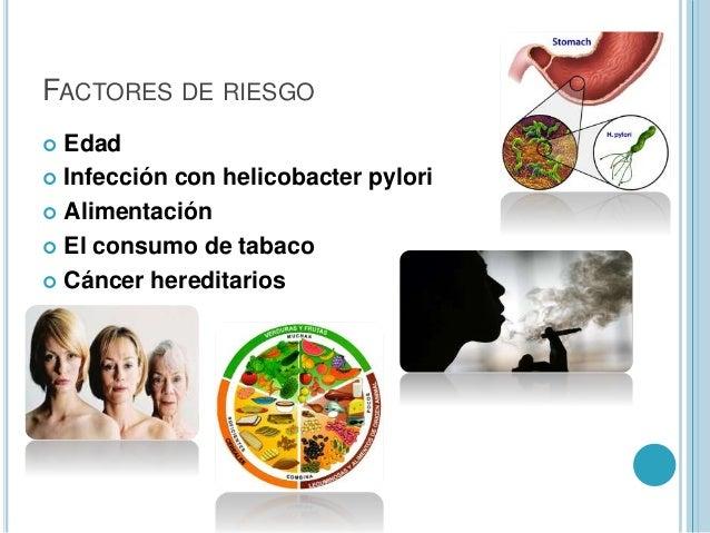 Resultado de imagen para factores de riesgo de cancer de estómago