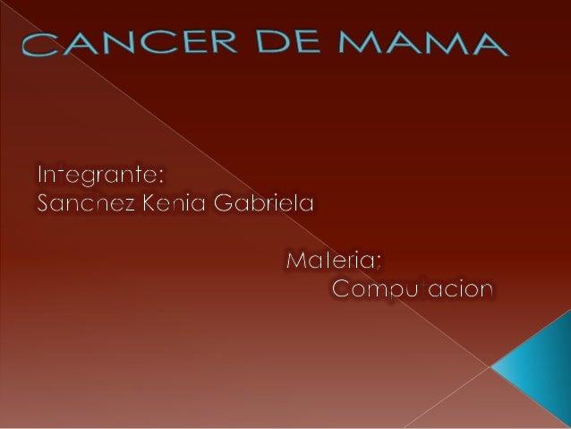   El seno normal  Para aprender sobre el cáncer de seno, resulta útil tener cierto conocimiento básico sobre la estructur...