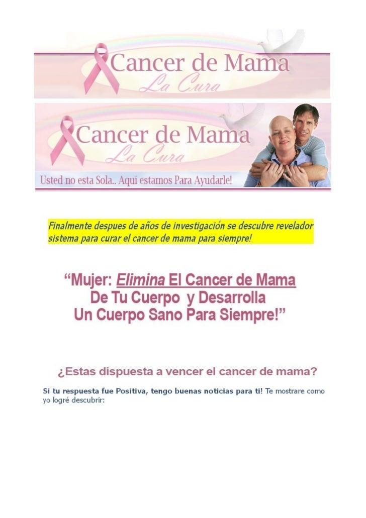 Cancer de mama la cura