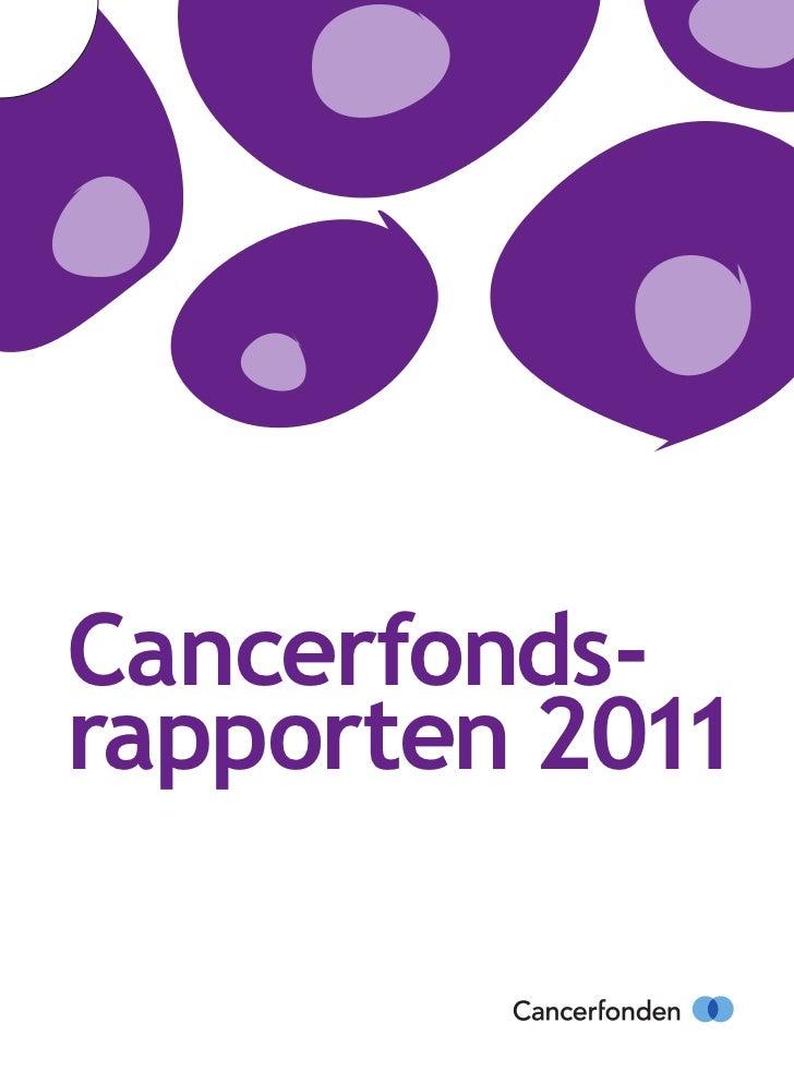 Cancerfonds-rapporten 2011