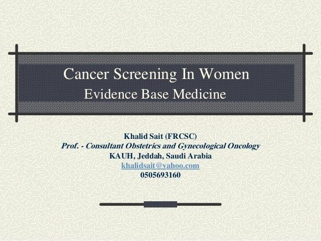 Cancer screening final final
