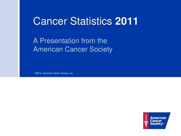 Cancer Statistics 2011A Presentation from theAmerican Cancer Society©2010, American Cancer Society, Inc.
