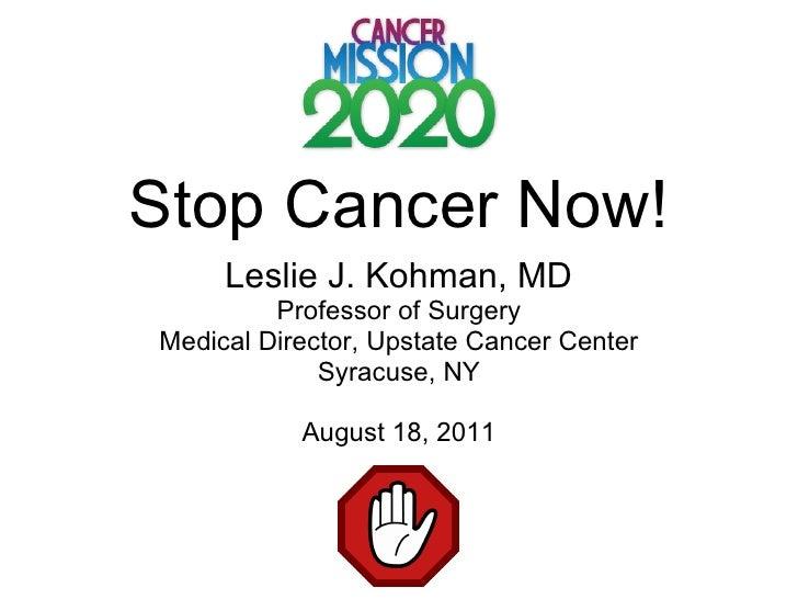 Cancer summitt 2020 buffalo aug 2011