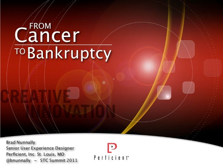 STC Summit - From Cancer To Bankruptcy