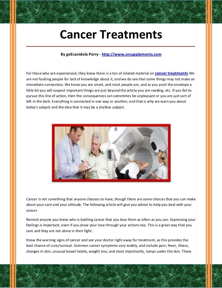 Cancer Treatments_____________________________________________________________________________________                    ...