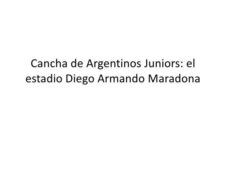 Cancha De Argentinos Juniors