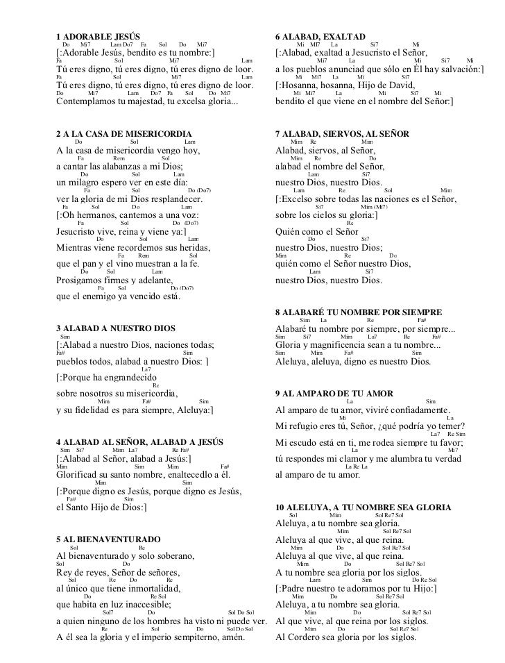 Cancionero 2009