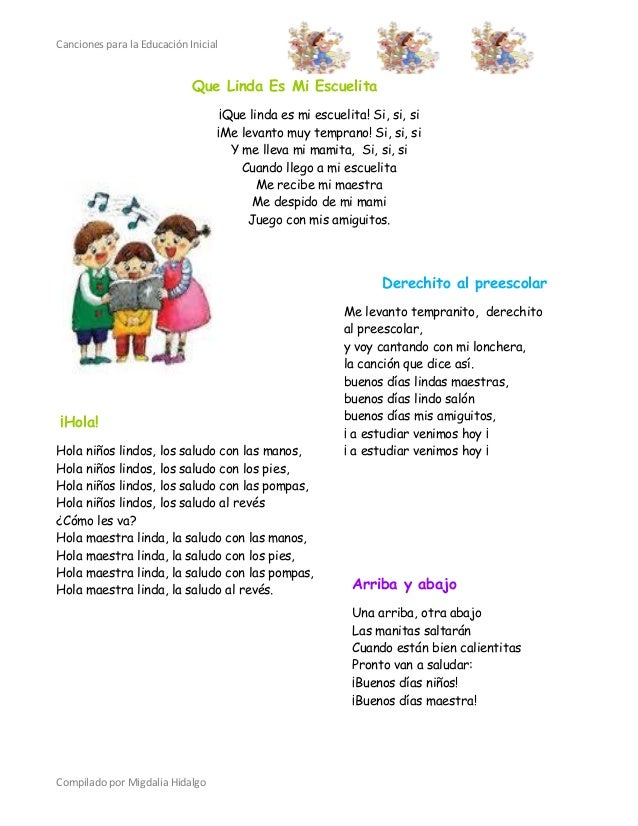 Canciones educacion inicial for Al jardin de la republica letra