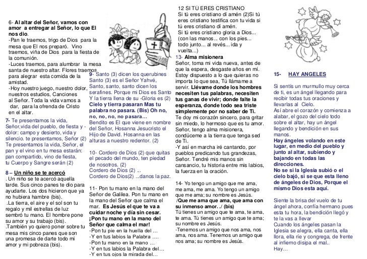12 SI TÚ ERES CRISTIANO Si tú eres cristia