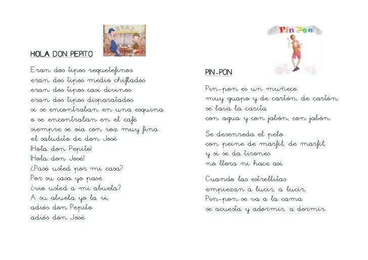 Canciones infantiles tradicionales letra de cole for Cancion infantil hola jardin