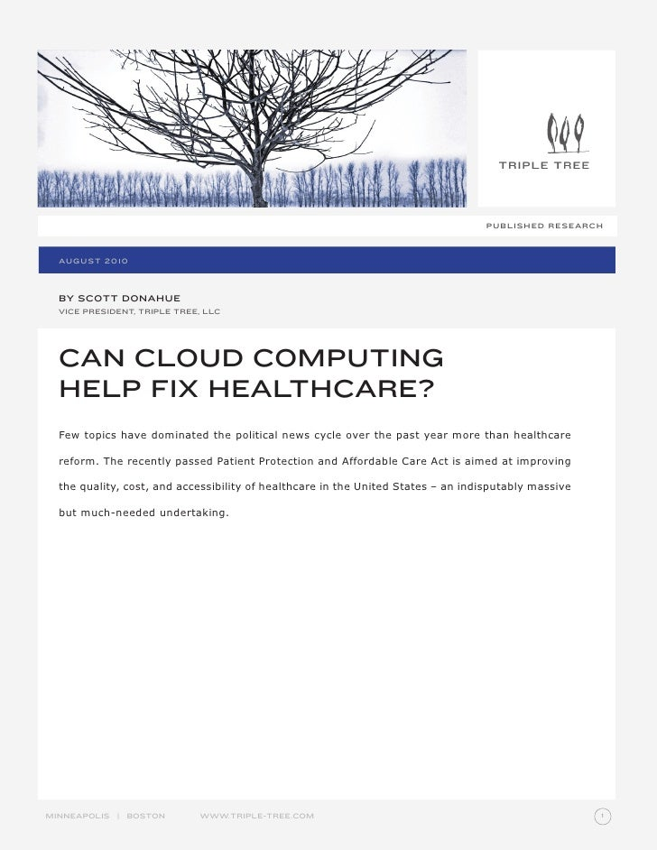 Can Cloud Help Healthcare Aug 2010 Reprint