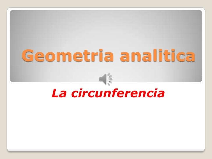 Geometria analitica   La circunferencia