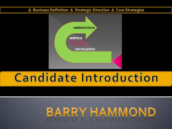 Candidate Introduction