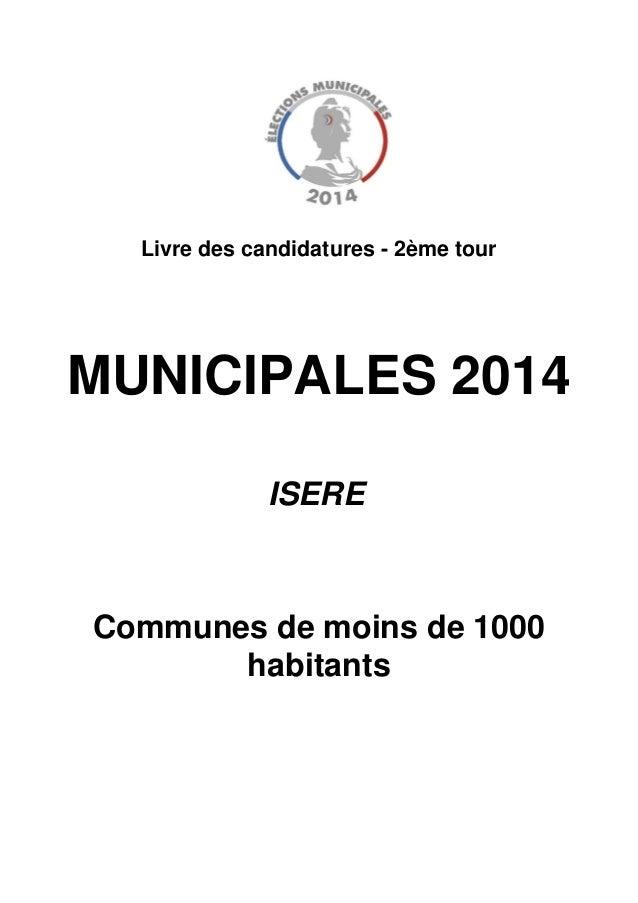 Municipales en Isère. Listes dans les communes de - de 1000 habitants