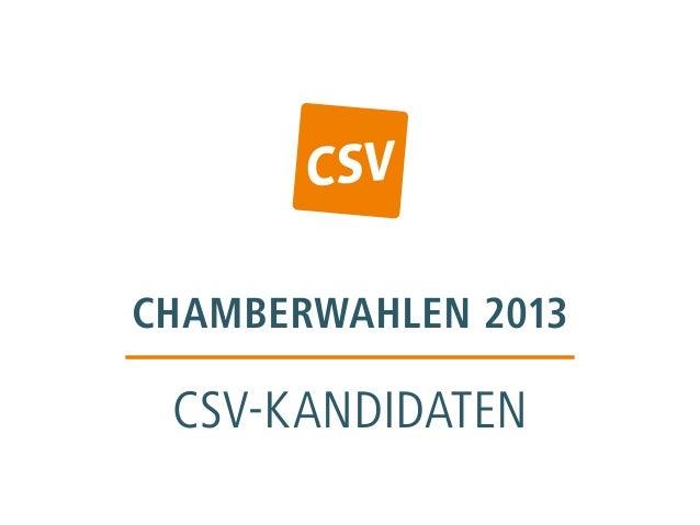 chamberwahlen 2013 CSV-kandidaten