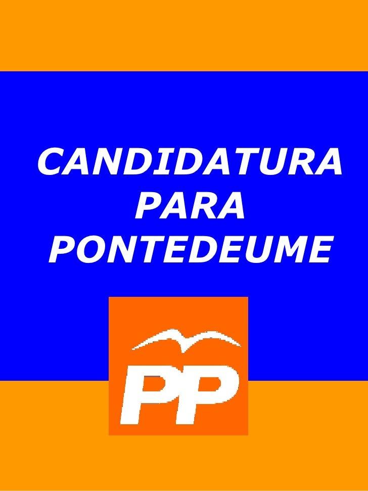 CANDIDATURA PARA PONTEDEUME